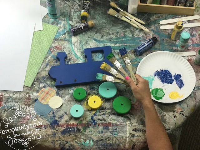 little boy train paint parties Frisco Texas