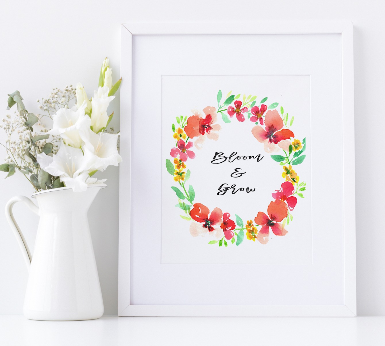 Spring Flowers in Watercolors and Hand-Lettering Workshop