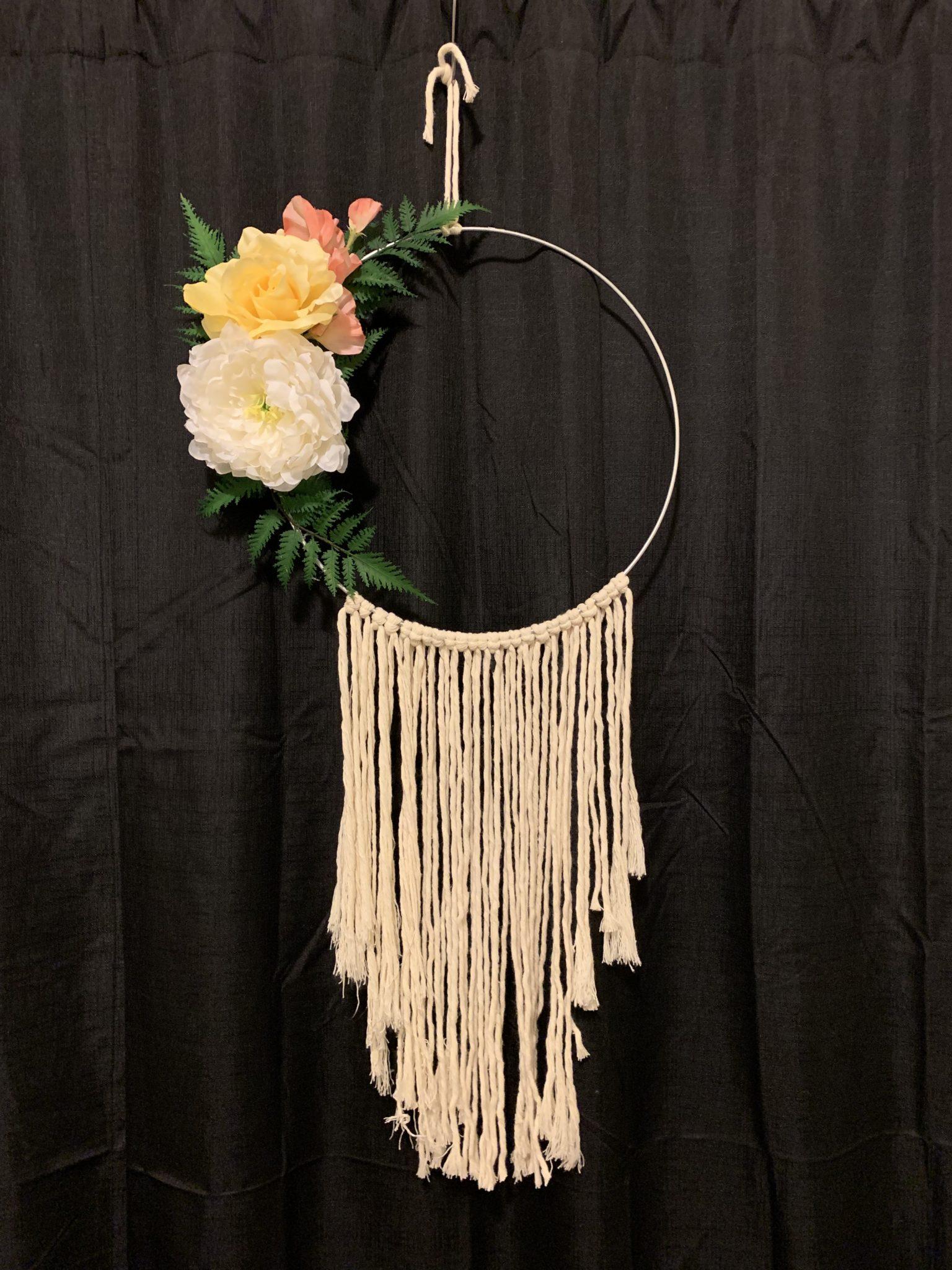Macrame Floral Wreath