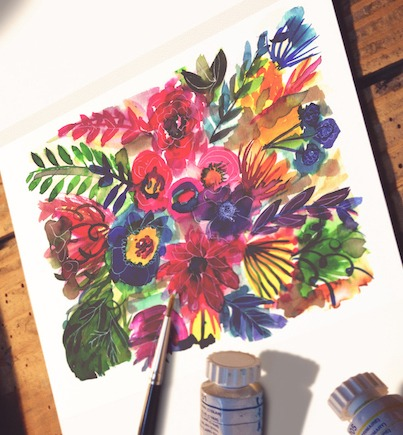Abstract Watercolor Blooms for Beginners