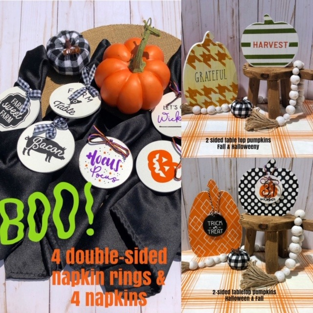 Adorable DIY Double-Sided Thanksgiving & Halloween Tablescape Decor