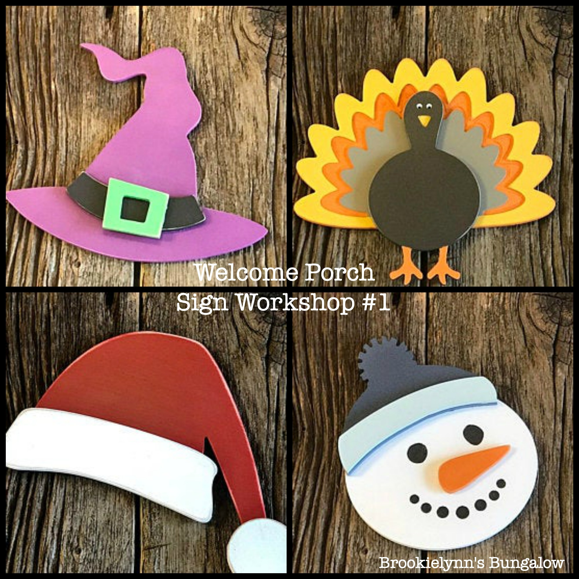 Vertical Welcome Porch Sign with Interchangeable Seasonal Shapes Workshop #1