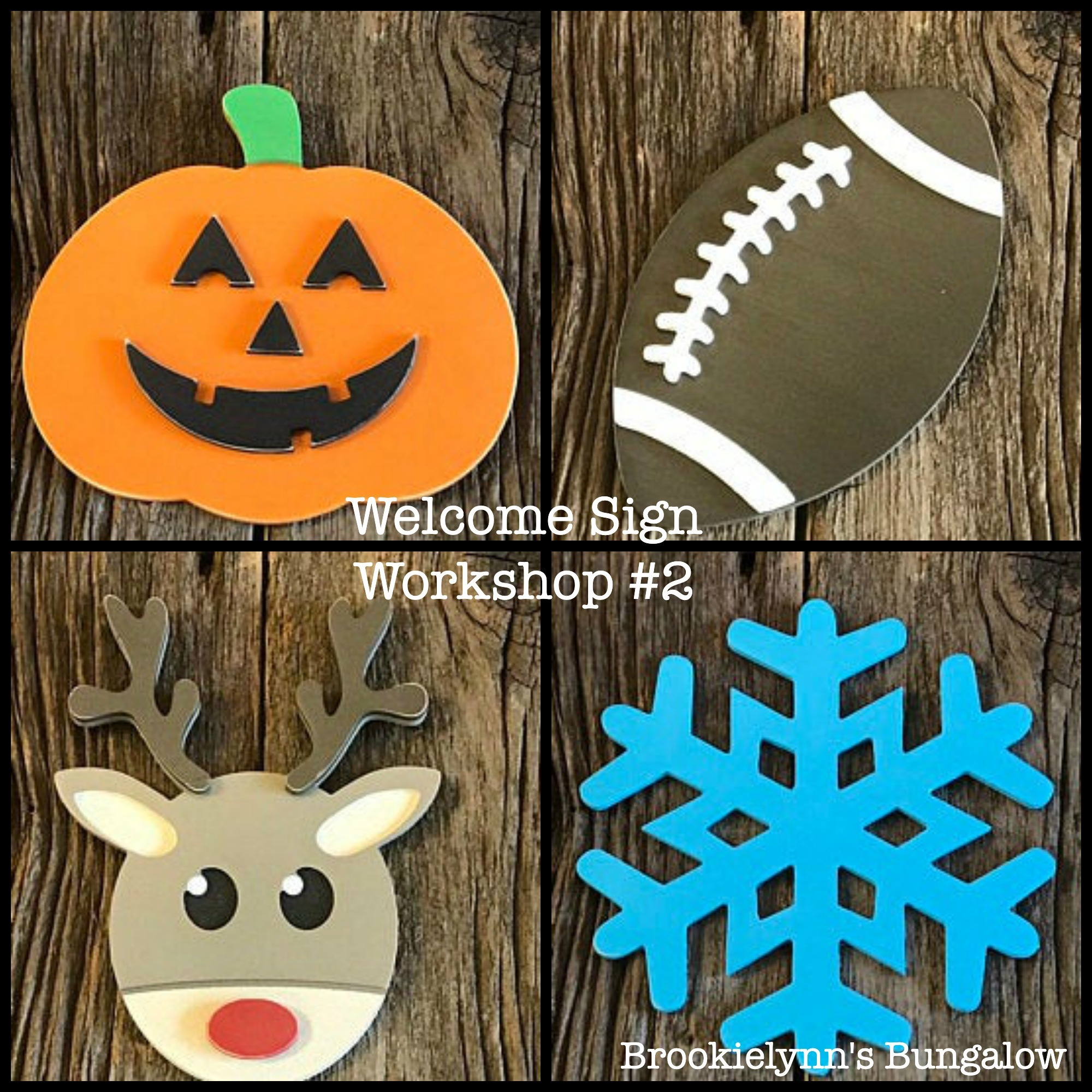 Vertical Welcome Porch Sign with Interchangeable Seasonal Shapes Workshop #2