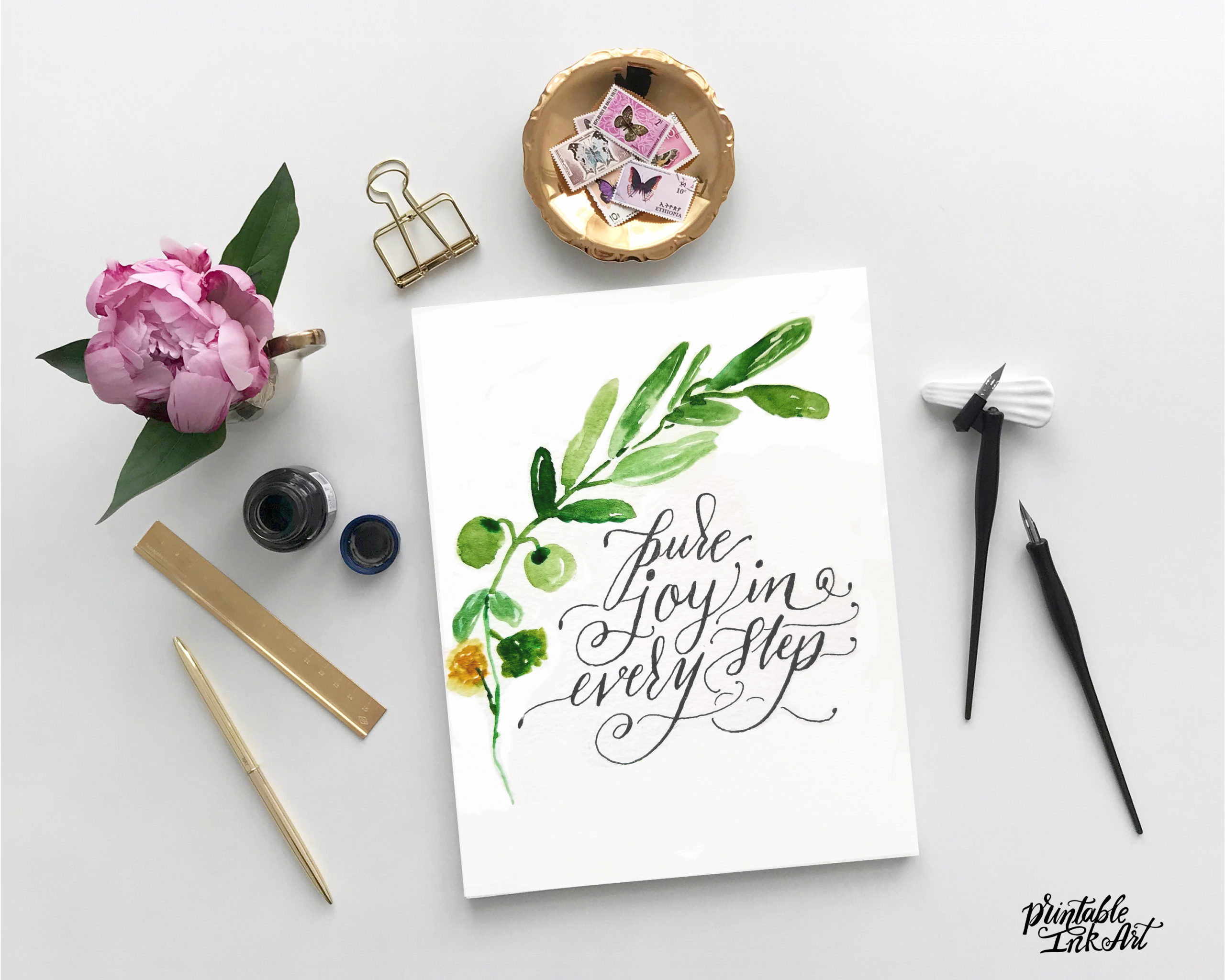 Watercolors + Calligraphy Workshop