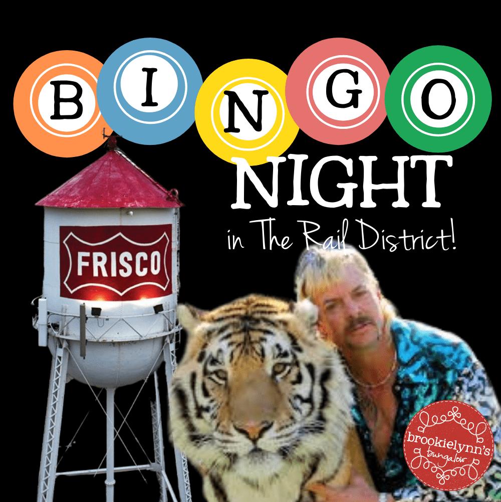 Bingo Night in the Rail District — Tiger King Theme!