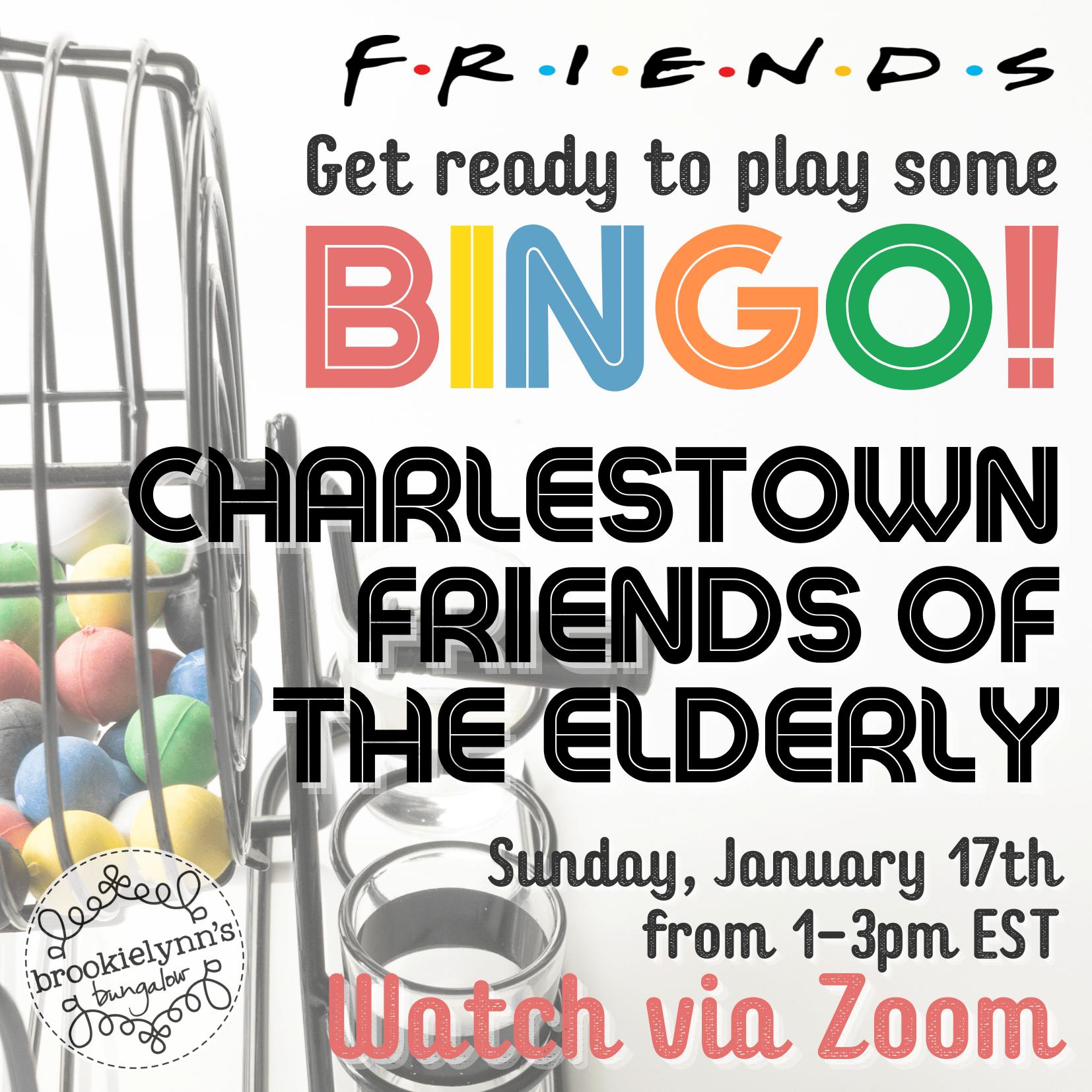 Virtual Bingo Fundraiser Benefiting Charlestown Friends of the Elderly